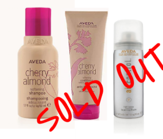A GIFT OF LITTLE STYLE    $25 - SOLD OUT    Cherry Almond Shampoo 50ml Cherry Almond Conditioner 50ml Air Control Light Hold Hairspray 1.4oz