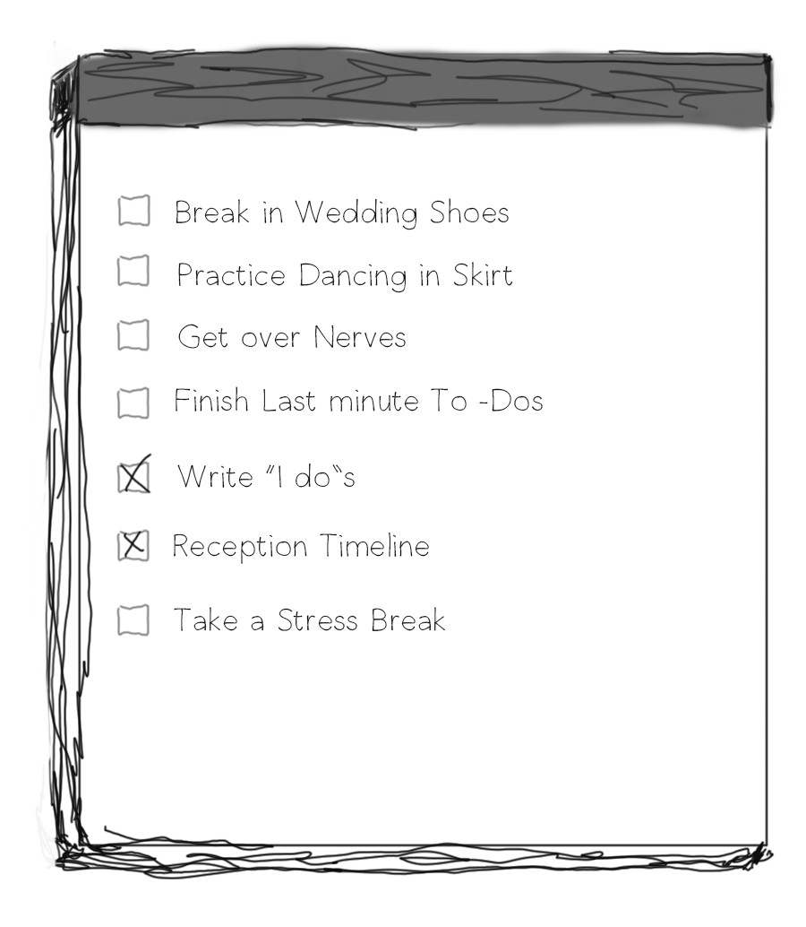 Wedding Dance to-do Check list