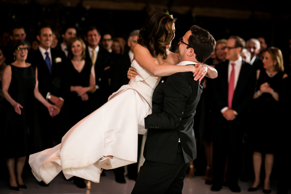 A wedding dance lift at the Chicago Botanic Garden
