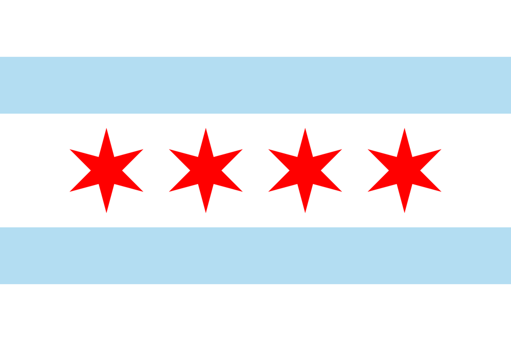 Iconic Chicago Flag