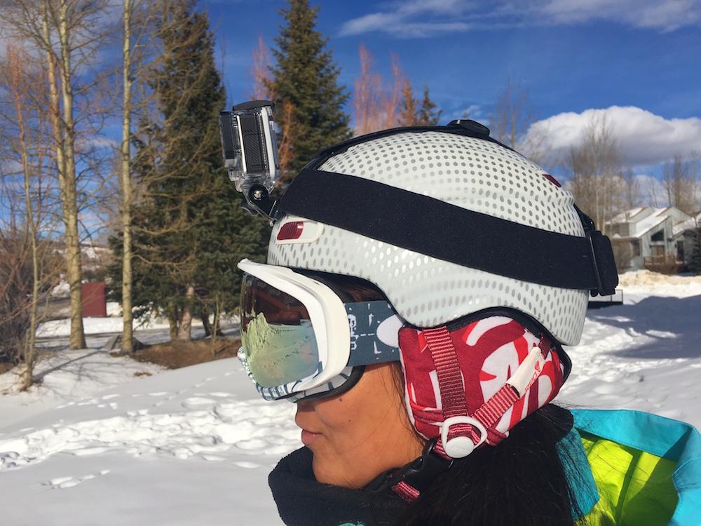 goggle strap under helmet
