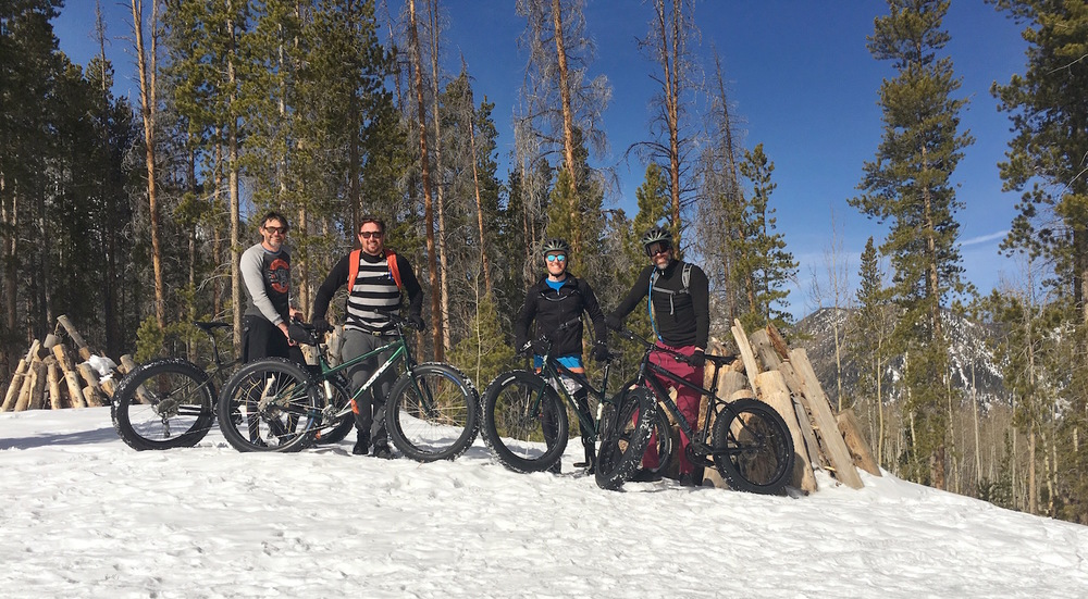 Fat biking in Frisco.