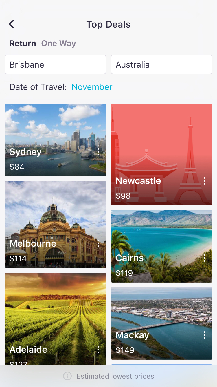 SKYSCANNER TOP DEALS SEARCH