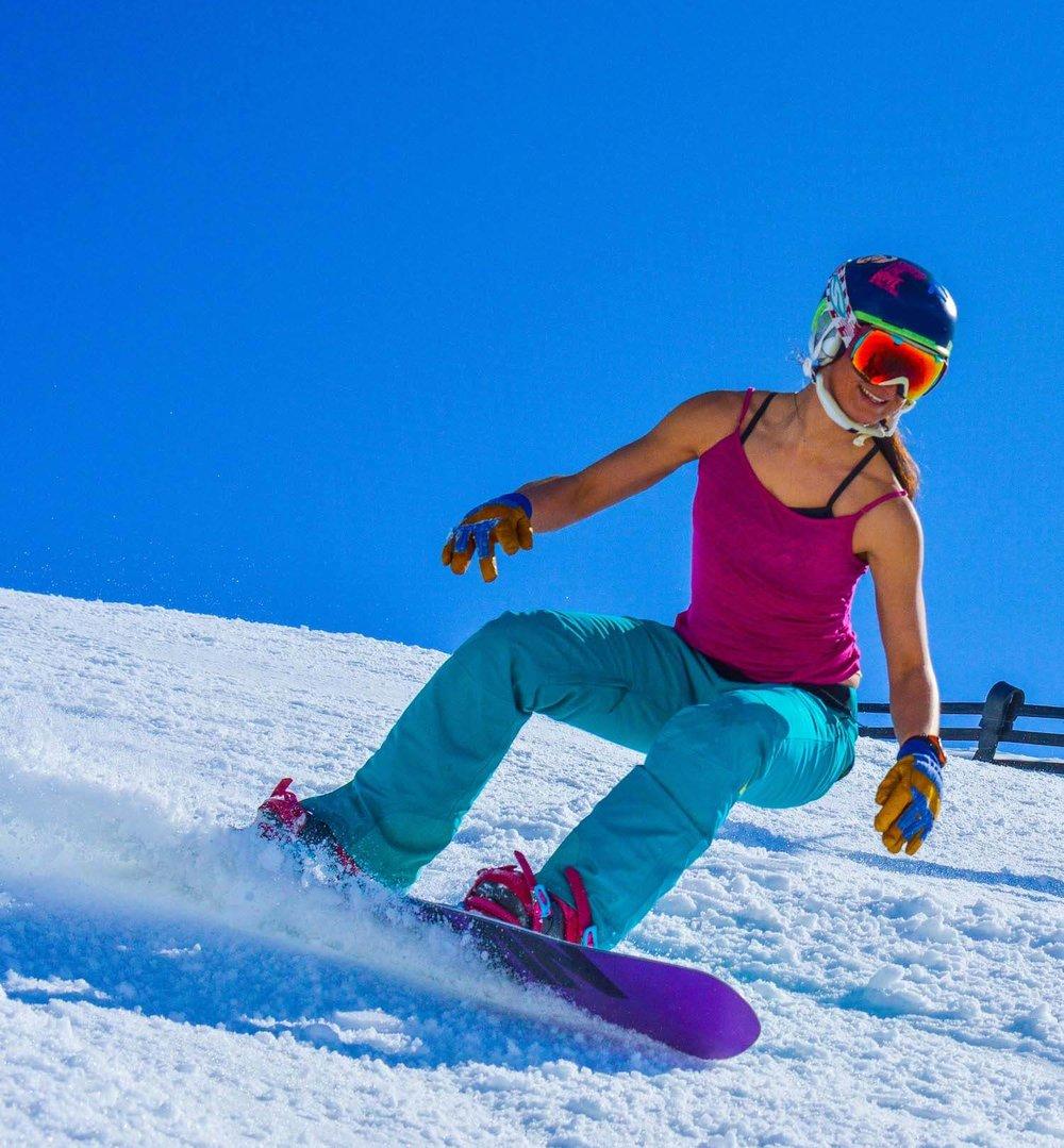 Christina Bruno - Spring Snowboarding