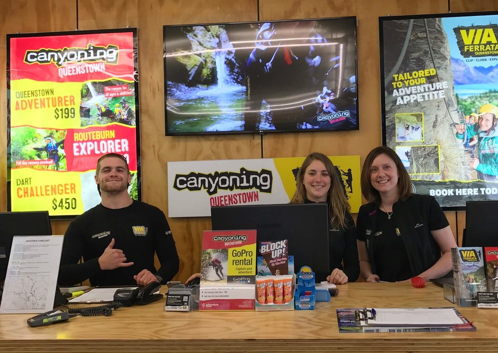 THE FRIENDLY TEAM AT CANYONING QUEENSTOWN