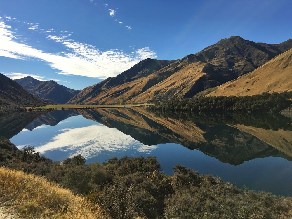 SAVING FOR TRAVELLING ALLOWS YOU TO VISIT AMAZING PLACES LIKE THIS - MOKE LAKE, QUEENSTOWN.