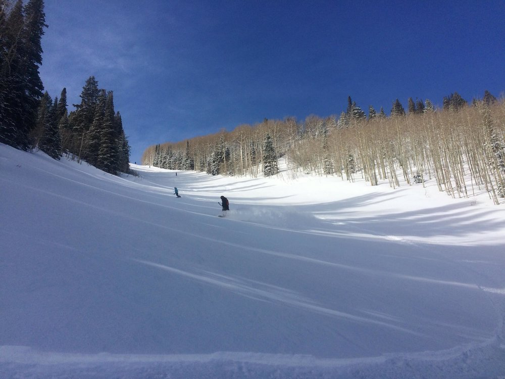 JEN AND MARTY ENJOYING SOME FRESH POW AT CANYONS
