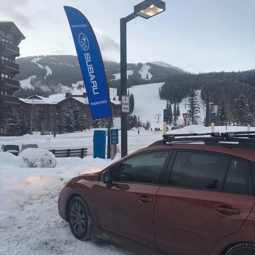 WE MADE USE OF THE FREE SUBARU PARKING AT COPPER MOUNTAIN!