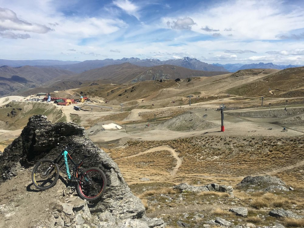 OVERLOOKING CARDRONA RESORT FROM RIDGERIDER