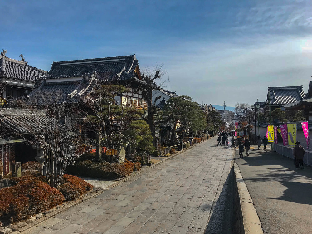 THE STREET WHICH LEADS TO ZENKOJI TEMPLE