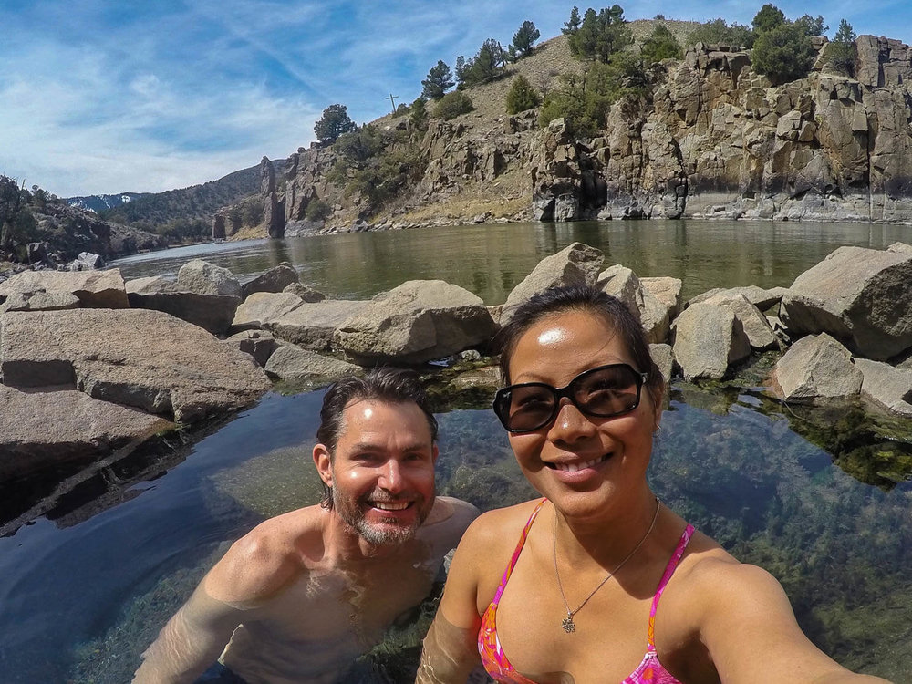 mick and jen in radium hot spring