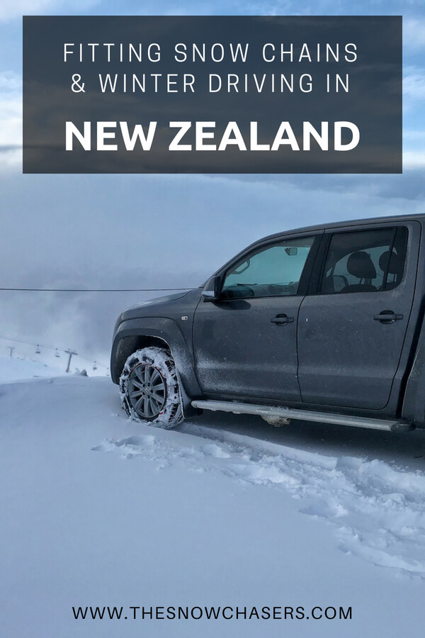 Fitting Snow Chains And Winter Driving In New Zealand The Snow
