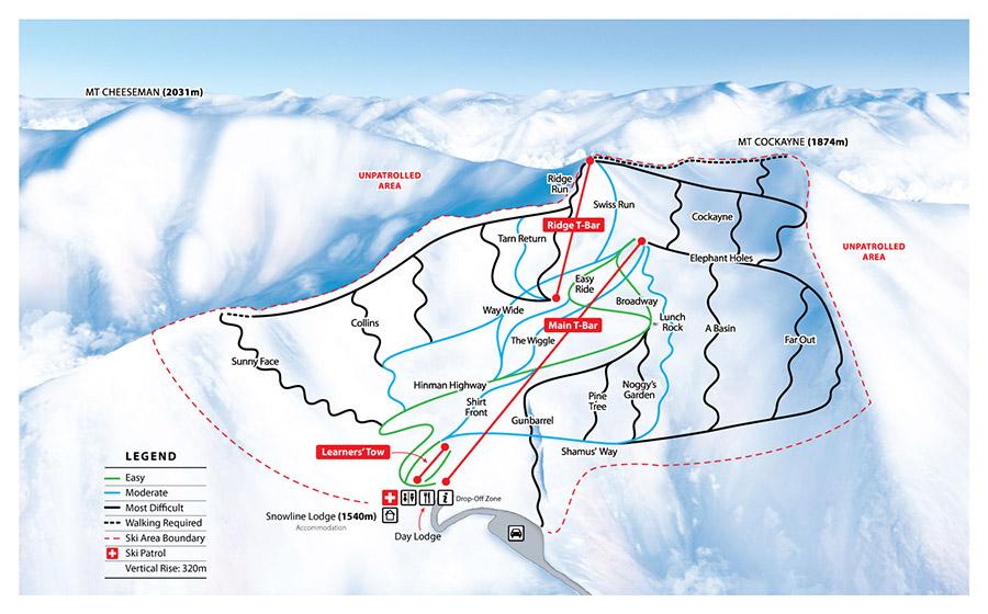MT CHEESEMAN TRAIL MAP.