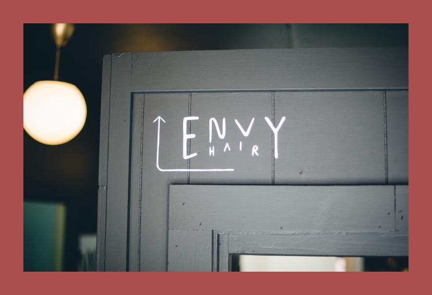 Envy Hair Space Sign