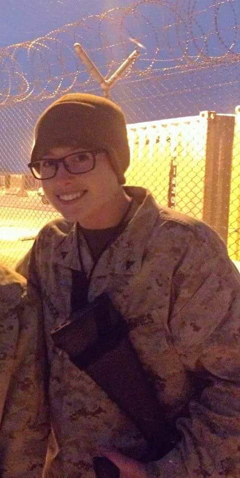 January 2014, Camp Leatherneck Afghanistan. Two months into her deployment.