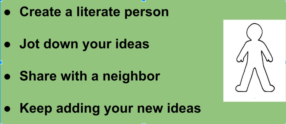 Example of a blank literate person outline.