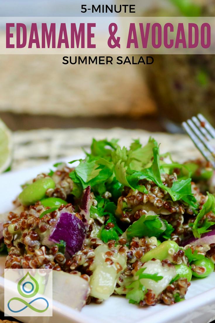 Edamame & Avocado Summer Salad