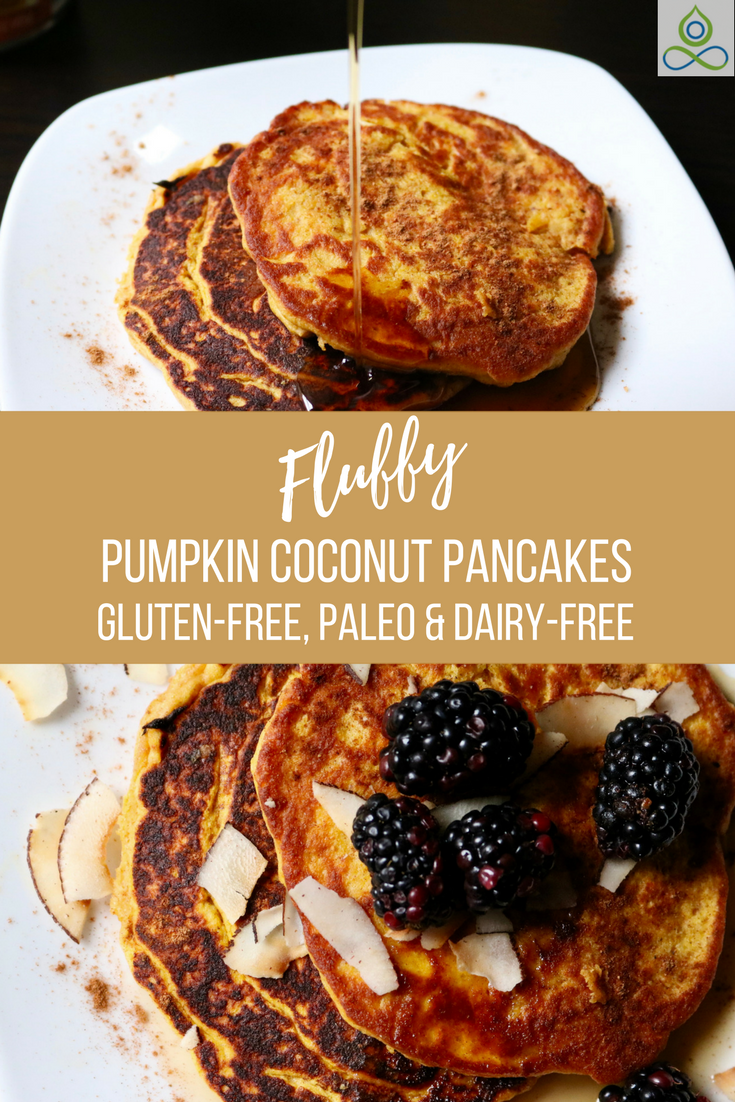 Fluffy Pumpkin Coconut Pancakes