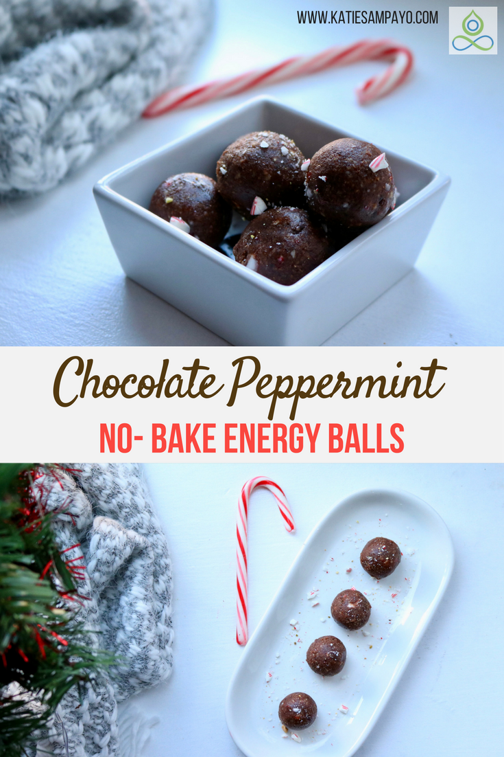 Chocolate Peppermint No-Bake Energy Balls