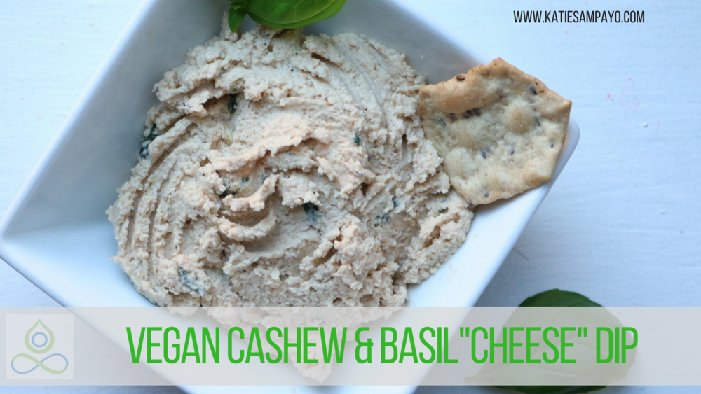 "Easy Vegan Cashew & Basil ""Cheese"" Dip"