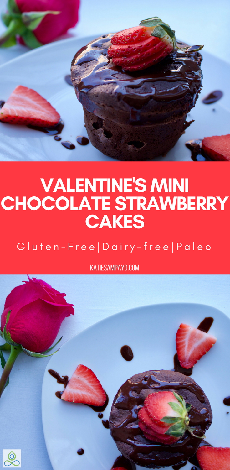 Valentine's Chocolate Strawberry Mini Cake with Chocolate Ganache