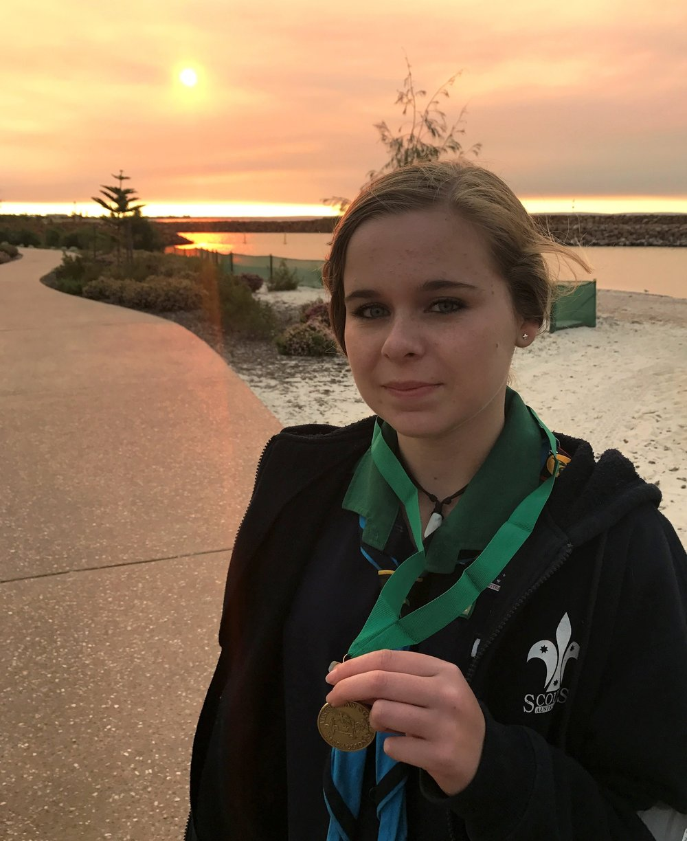 Chelsea Smith Awarded Australian Scout Medallion
