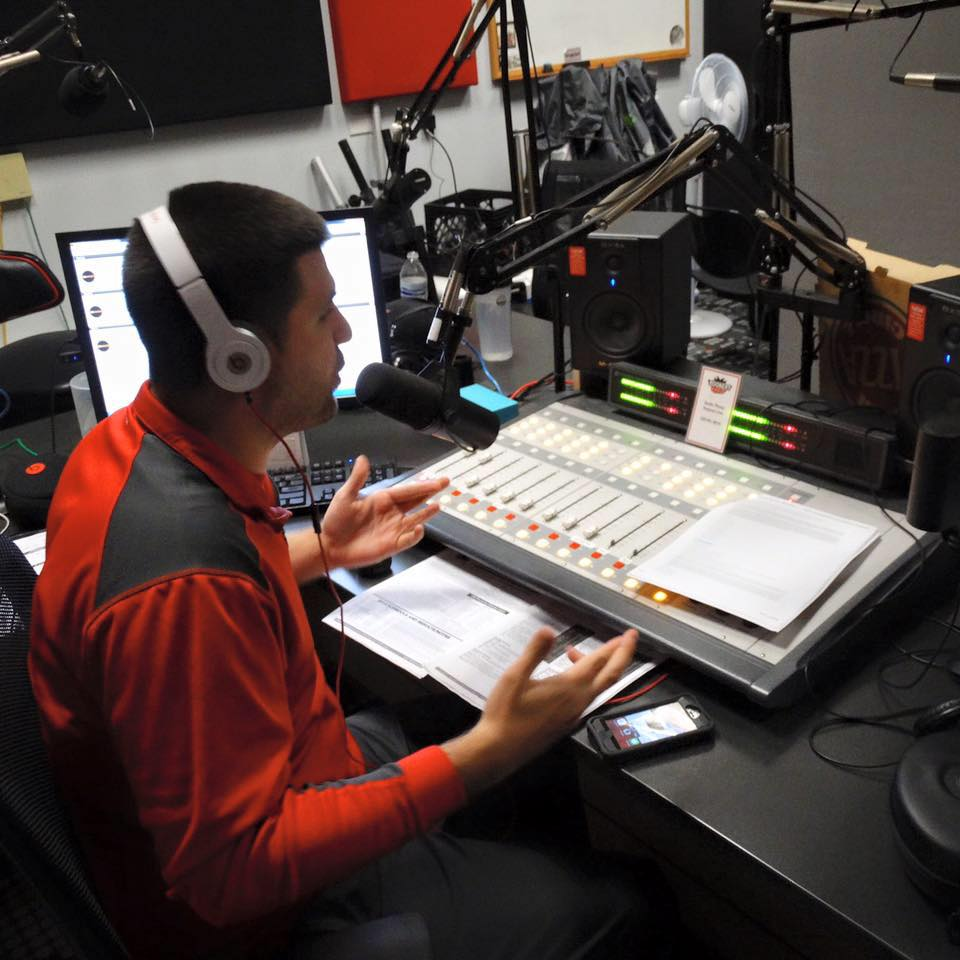 Hosting  The Mic Check  on Youngstown State's student radio station, Rookery Radio.