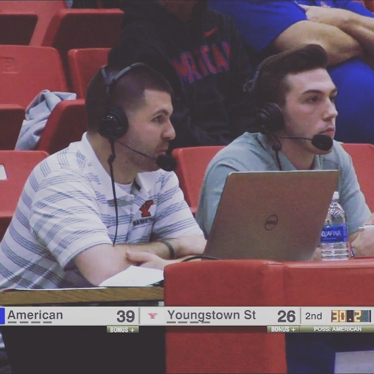 Broadcasting a Youngstown State Women's Basketball game vs. American on November 11, 2016 for ESPN3/WatchESPN with Mike Yourstowsky.