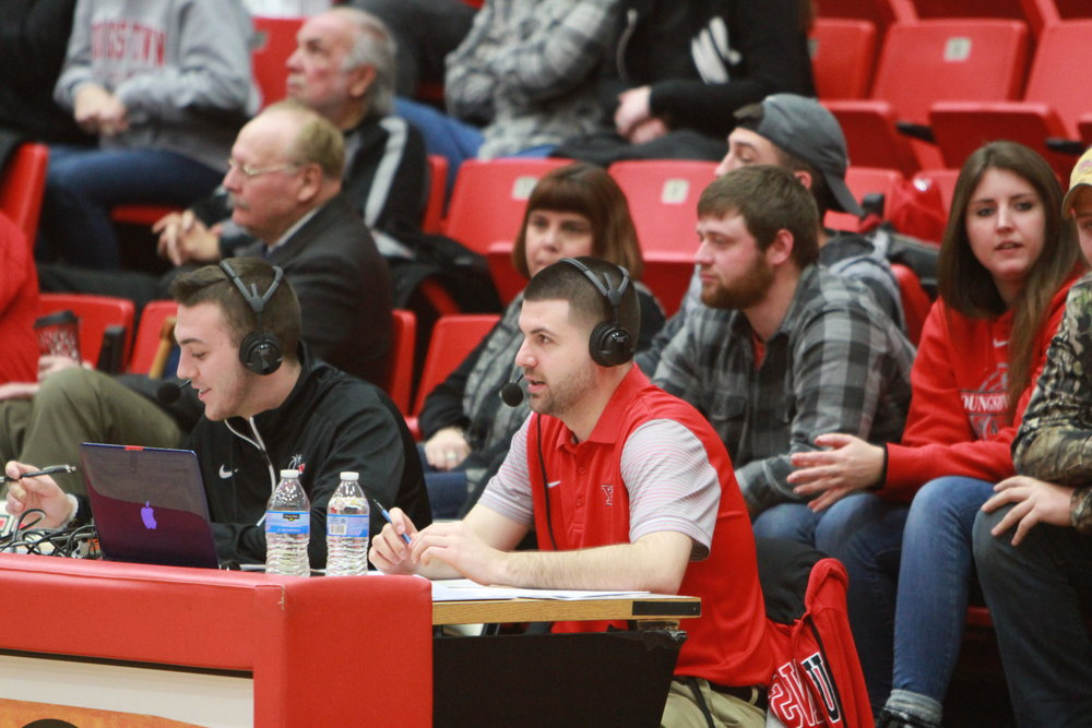 Broadcasting a Youngstown State Women's Basketball game during the 2017-18 season on ESPN3/WatchESPN with Mike Yourstowsky.