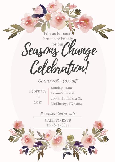 Seasons Change Event