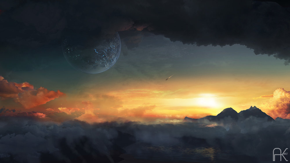 One of images created for marketing of a scifi novel 'Sigian Bracelet'