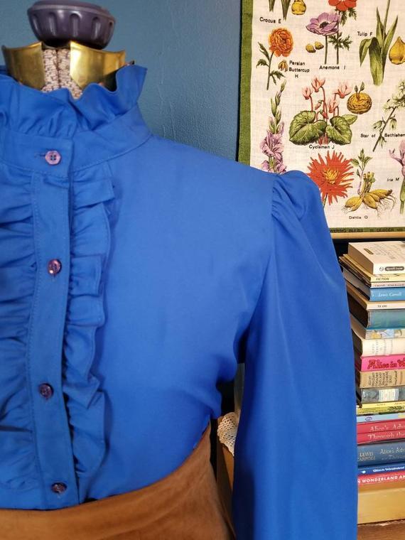 royal blue vintage blouse.jpg