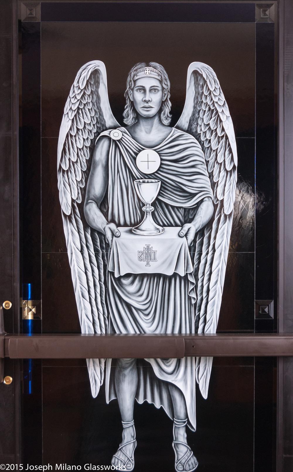 Eucharist Angel, Interior View