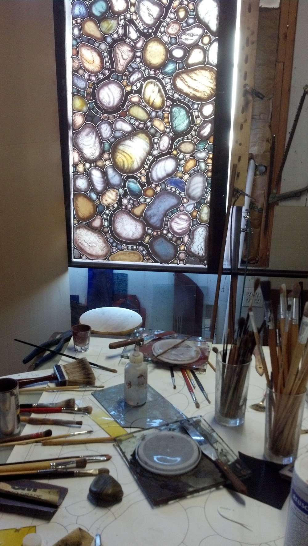 Pebble Window, Easeled