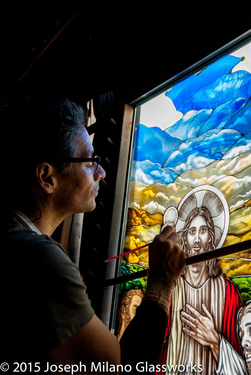 Painting Jesus detail