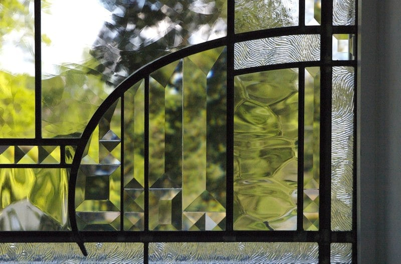 Beveled glass window detail