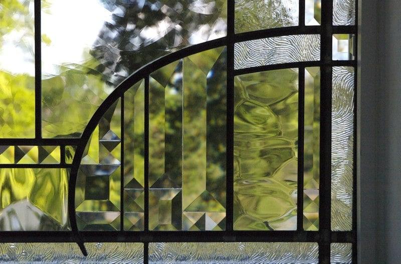 Beveled glass window detail