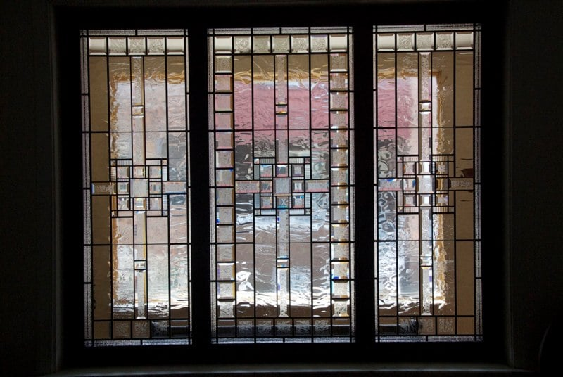 Beveled and Leaded glass window