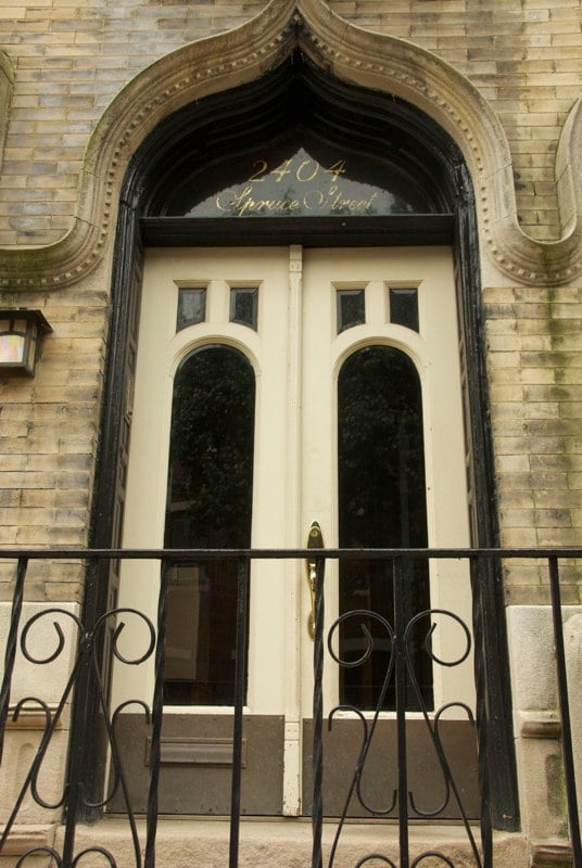 Historic doors before restoration