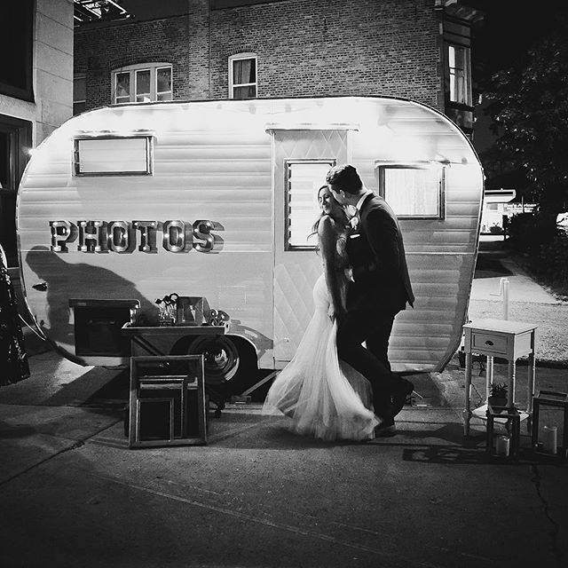 When you're friends trust you to not only have Faye at their wedding, but have me photograph it! It was seriously such a dreamy wedding, and I loved getting to be a part of it!!! Venue: @firehousechicago  Photo: @authenticadventureco - - - - - #authenticadventureco #adventureboothco #vintagetrailer #bhldnweddings #soontobemarried #chicagobride #engagedlife #engagedandinspired #wahm #engagedcouple #camper #vintagecamper #photoboothfun #photobooths #outdoorwedding #barnwedding #farmwedding #offbeatbride #vintagebride #bossgirl #girlboss #chicagowedding #michiganwedding #bosslife #bhldnbride #wisconsinbride #wisconsinwedding #chicagophotobooth #outdoorceremony #firehousechicago