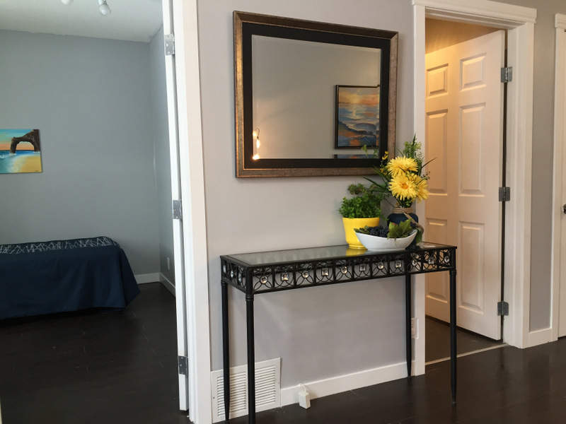 Entryway after staging.