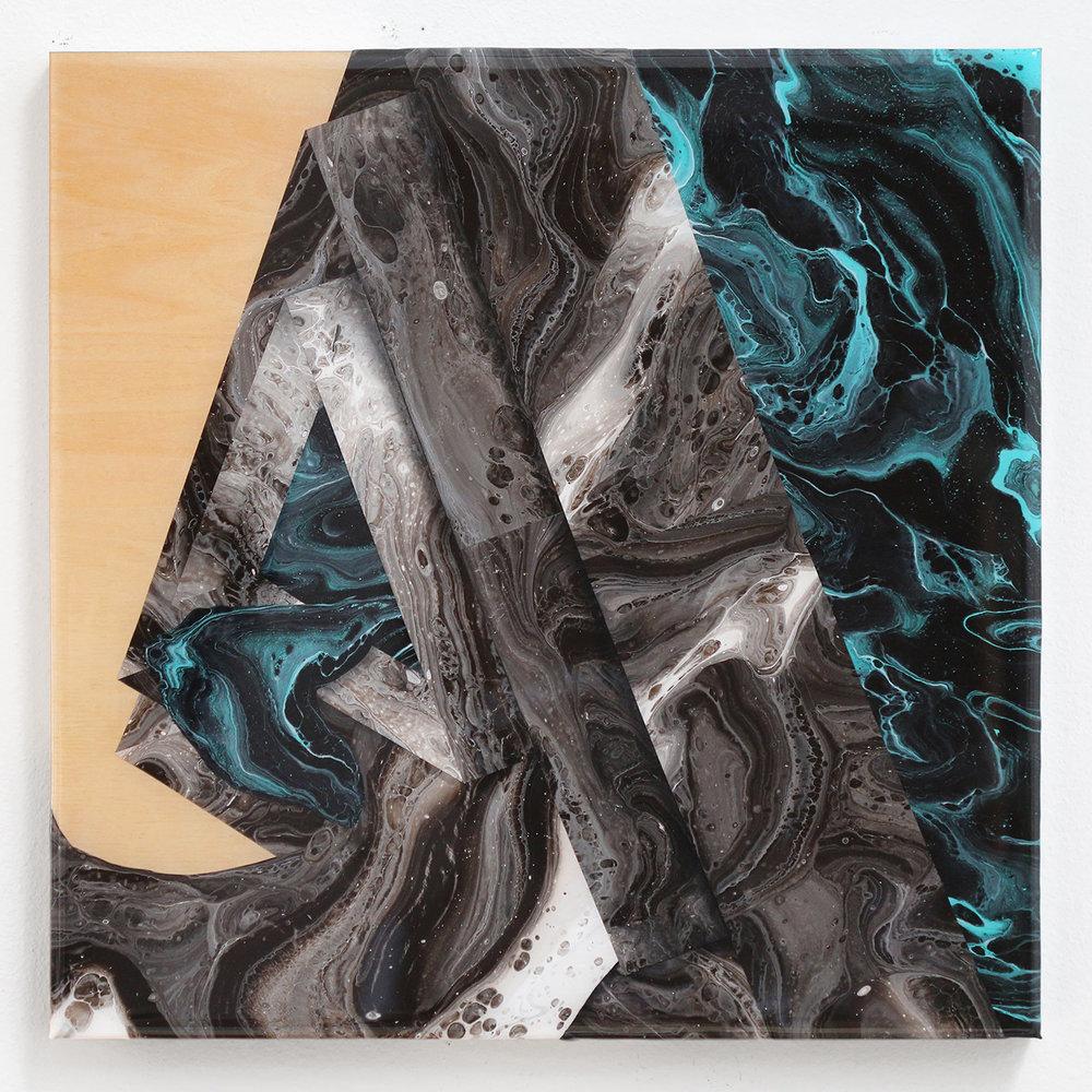 Infernal Garden | 20x20x1.5 | acrylic on wood panel with 2x resin finish