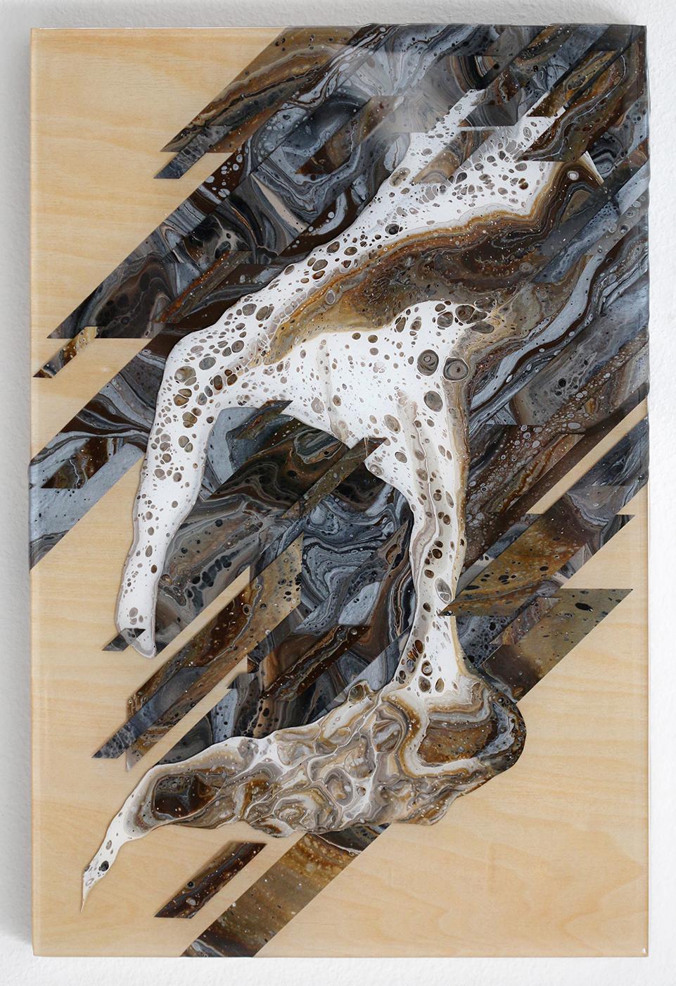 Seasoned Schemes | 12x18x1.5 | acrylic on wood panel with 3x resin finish