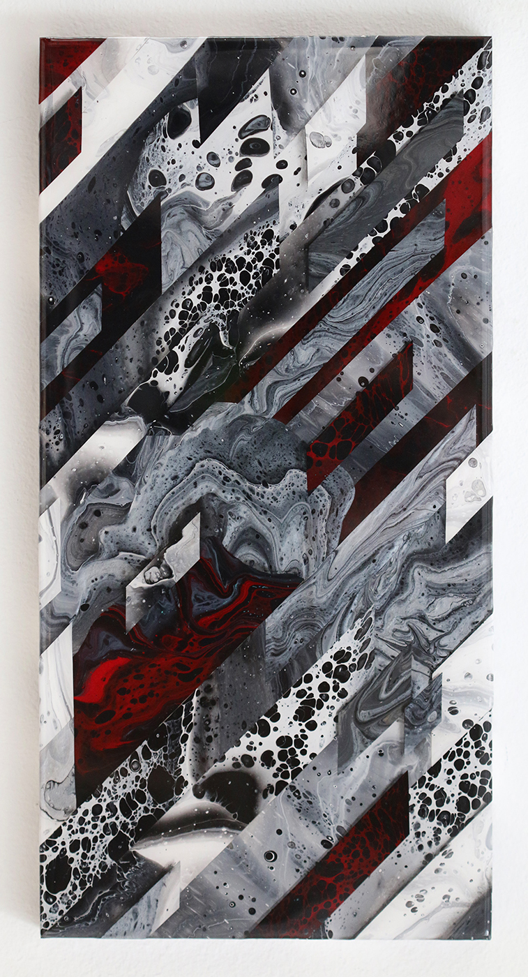 Freon Leak | 10x20x1.5 | acrylic and oil on wood panel with 2x resin finish