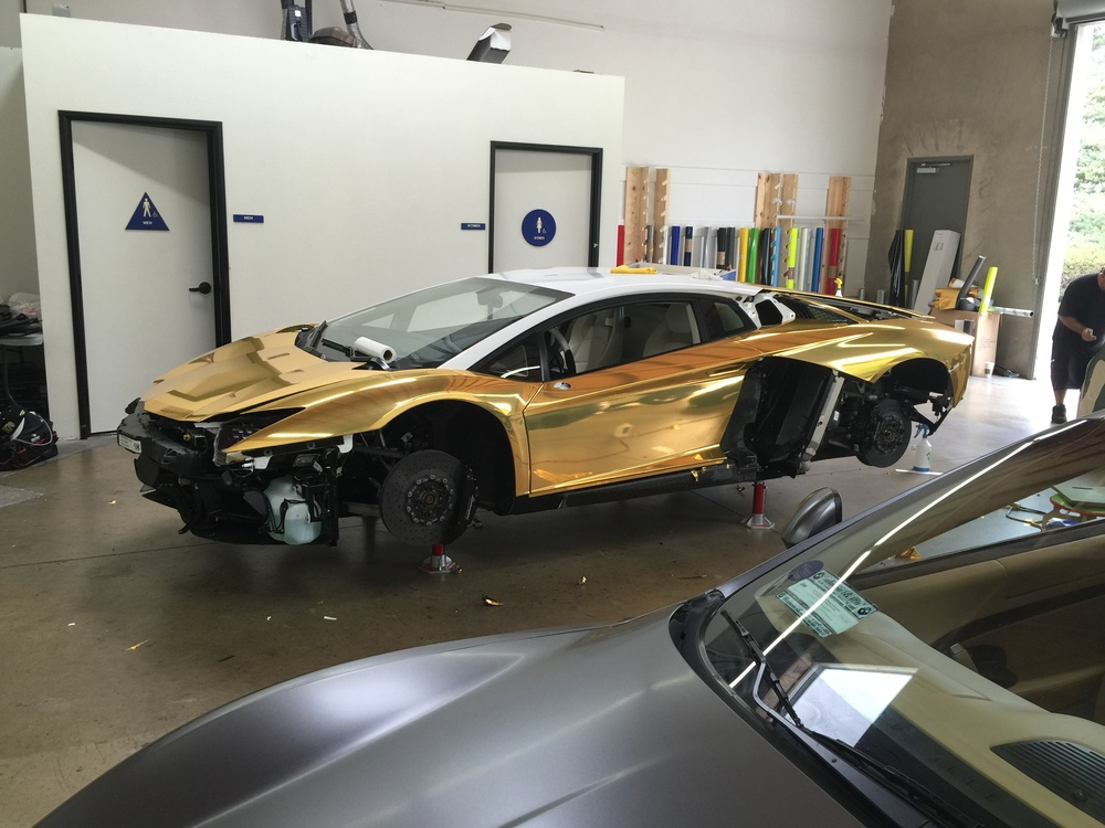 Gold-Chrome-Lambo
