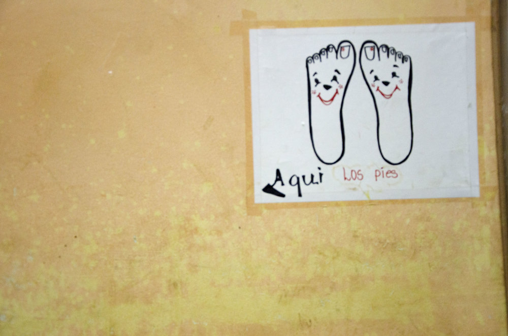 "The ""foot"" of a bed in Diriomo. ""Aqui"" which means ""here"" was one of my favorite Spanish words."