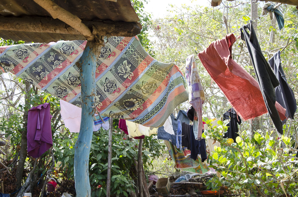 Laundry blowing in the sunshine, in Niquinohomo, during more of the home visits we made with the doctors and nurses.