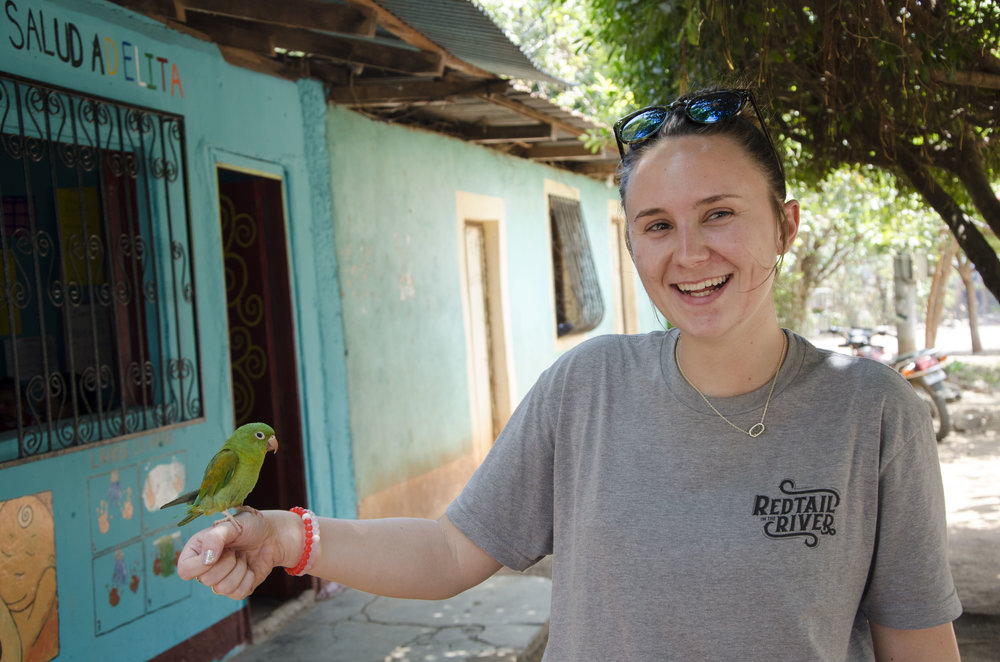 Lawren, one of the other students I got to work with in the clinics took a turn holding the little parakeet. I was so grateful to be surrounded by so many talented, passionate, hard working individuals on this trip.