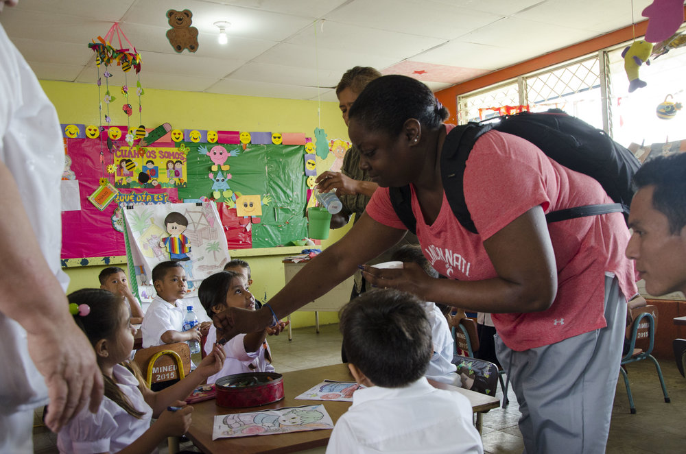 Working in the school was one of my favorite days because although we were giving the kids medication, they were still excited to see us. I got a surprising amount of hugs. It was also really incredible to see how social work can be a part of public health and how integrative health care can really work.