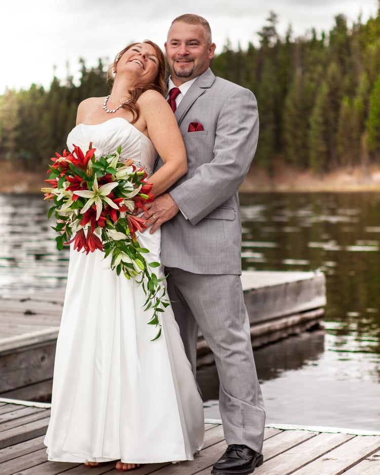 Montana Seeley Lake wedding